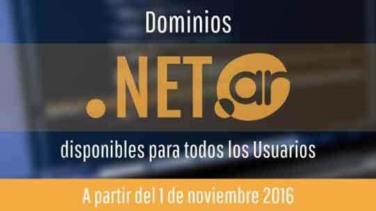 dominios net.ar para todos los usuarios
