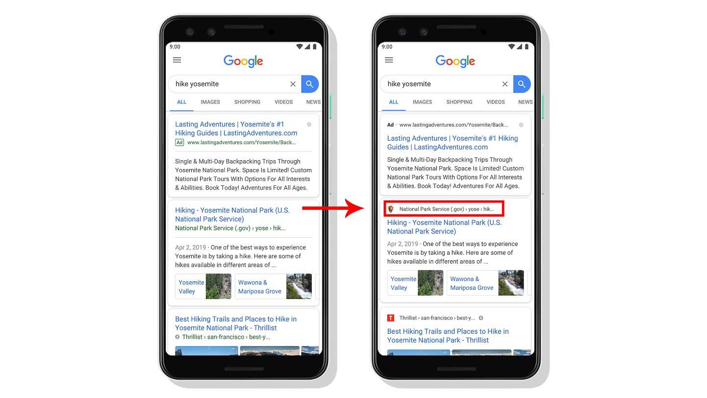 favicon en google